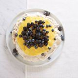 berry and lemon pavlova