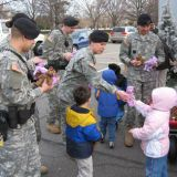 Troops Giving Toys