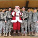 Santa and Troops