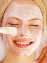 woman getting a facial treatment