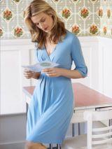 woman in a light blue dress