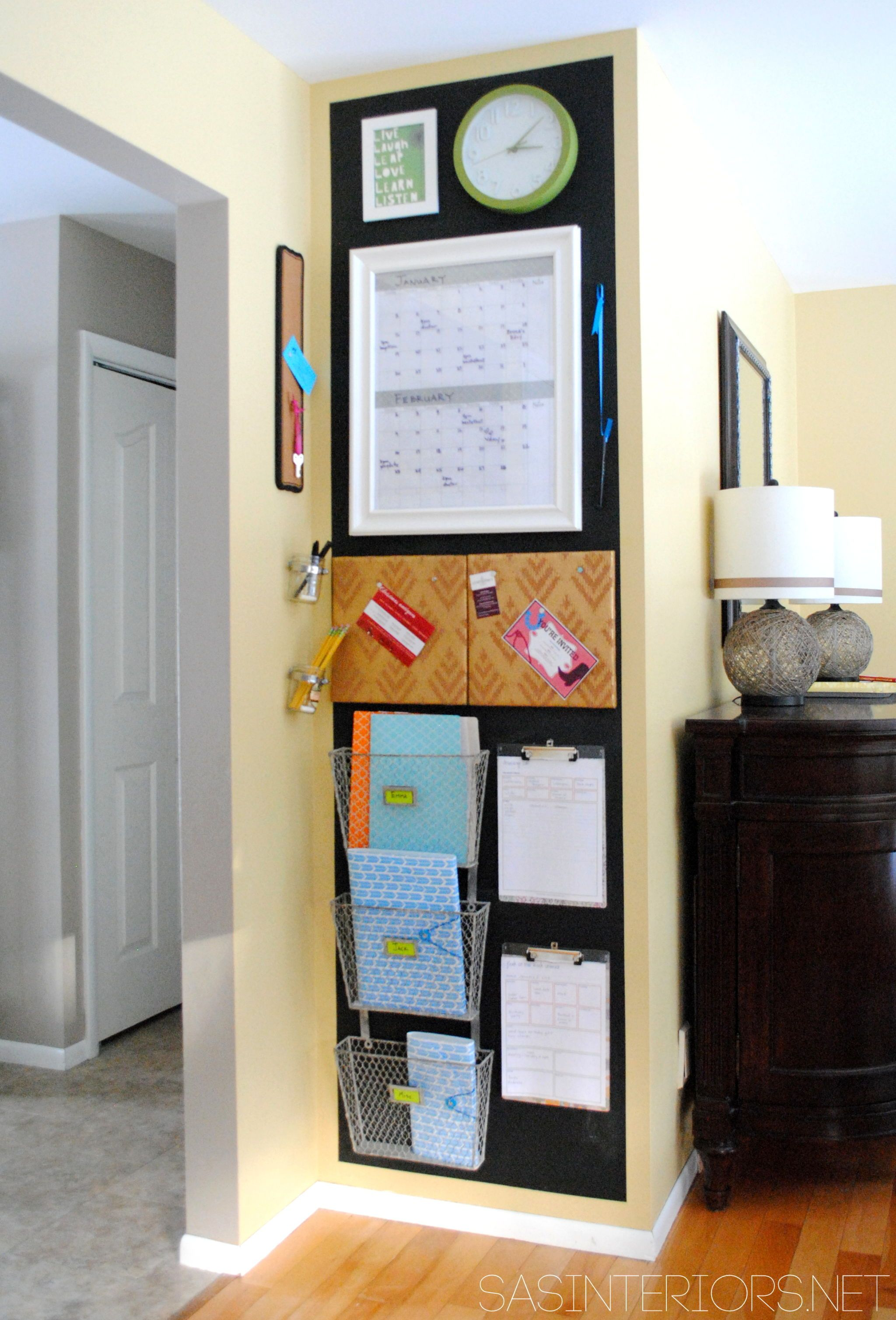 Family Command Center Ideas Organizing Family Schedules