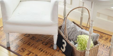 Room, Interior design, Floor, Basket, Flooring, Interior design, Grey, Hardwood, Home, Storage basket,