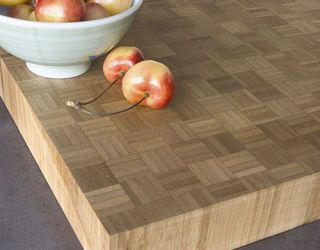 Bamboo countertop from Teragren, with apples on top.