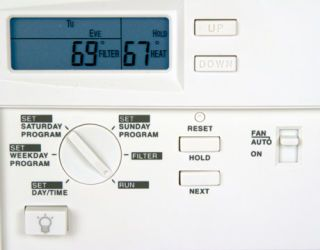 Programmable thermostat can help you save on high home heating oil bills.