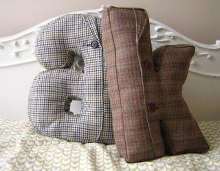 suit jacket alphabet pillow
