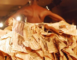 newspaper dress gary harvey