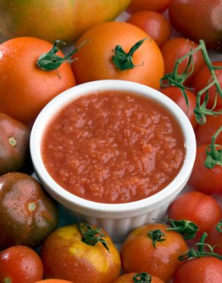 tomato sauce, paste and whole tomatoes