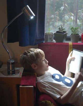 tin can reading lamp