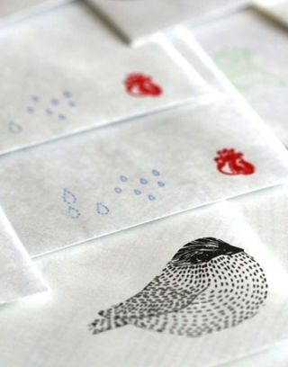 printed recycled map envelopes