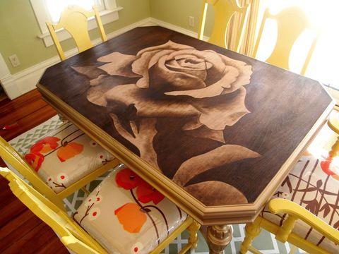 Room, Art, Interior design, Paint, Creative arts, Visual arts, Rose family, Rose order, Wood stain, Rose,
