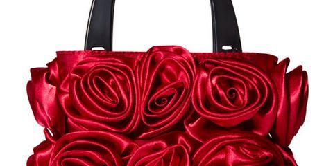 lori greiner satin roses purse