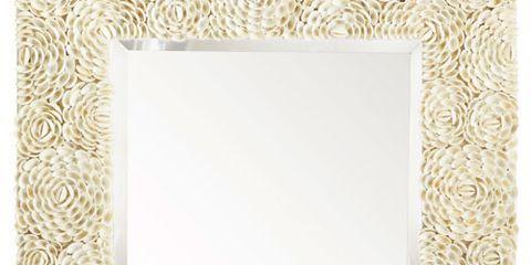 white shell flower mirror