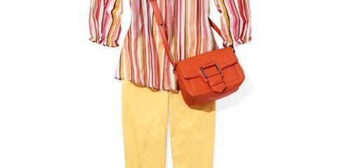 lemony capris striped tunic