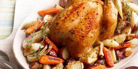 roasted chicken winter vegetables