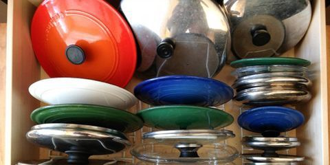 Pot Lid Organizers - Kitchen Organizing Ideas