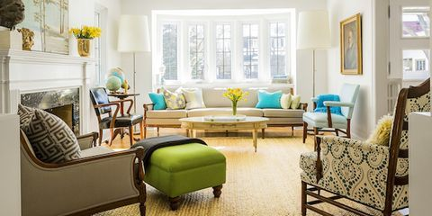 Room, Interior design, Green, Floor, Living room, Furniture, Wall, Home, Couch, Flooring,