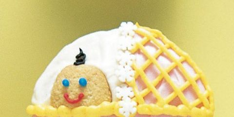 baby buggy cupcake