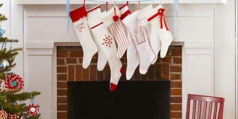 stockings hanging over fireplace