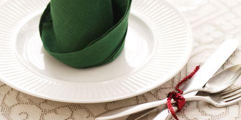 elf hat on plate