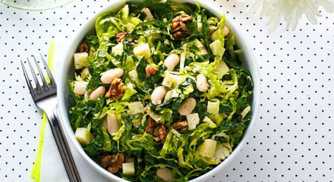 hearty kale and bean salad