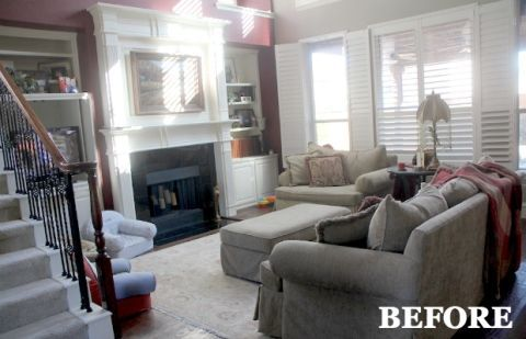 Before and After A Fun Space for the Whole Family & Bright Blue Living Room Makeover - Home Makeover Ideas