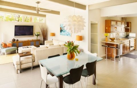 image & Open Floor Plan Layout Ideas - Great Room Decorating Tips