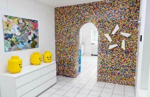 Diy Lego Wall Unusual Home Design
