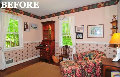 Floral Bedroom Makeover - Bedroom Before and After