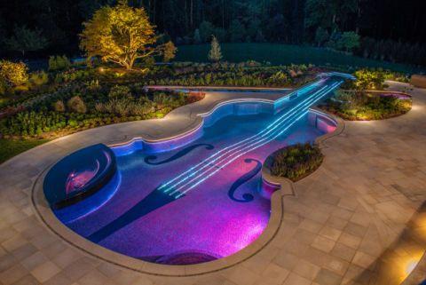 Landscape, Garden, Yard, Swimming pool, Landscaping, Design, Landscape lighting, Botanical garden, Backyard, Resort,
