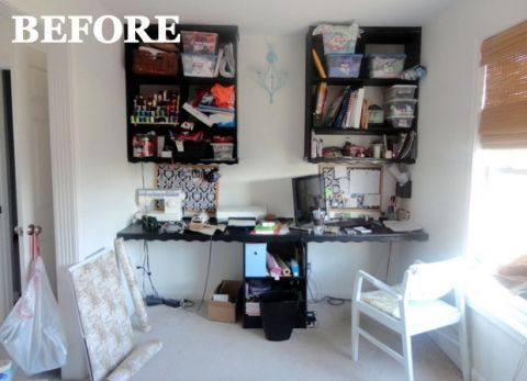 before and after home office home organizing ideas
