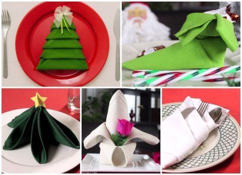 Napkin Folding Christmas.Christmas Napkin Folding Ideas Holiday Table Setting Ideas