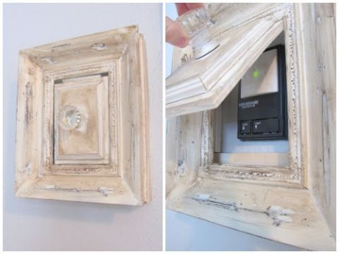 Wall, Rectangle, Molding, Wood stain, Paint, Coquelicot, Switch, Plaster, Still life photography,