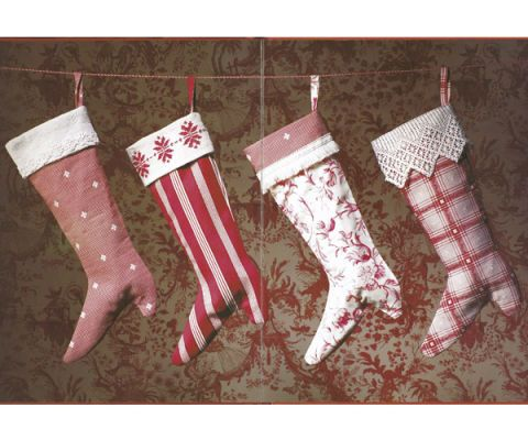 Victorian Christmas Stockings.Holiday Craft Victorian Christmas Stockings