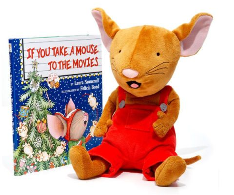 if you take a mouse to the movies book and plush toy