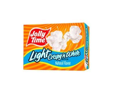 jolly time crispy n white light popcorn
