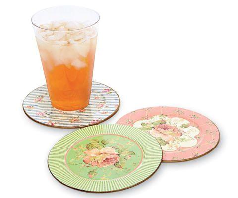 Vintage Rose Coasters