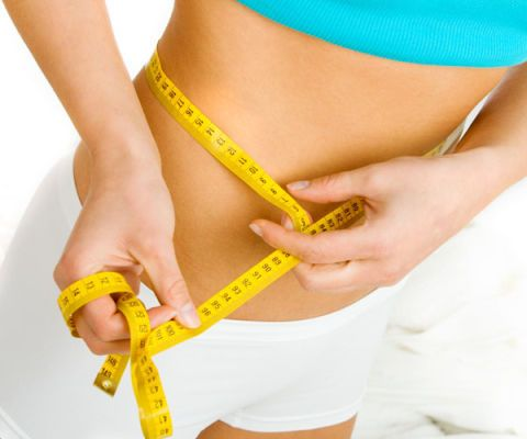 slim waist with tape measure