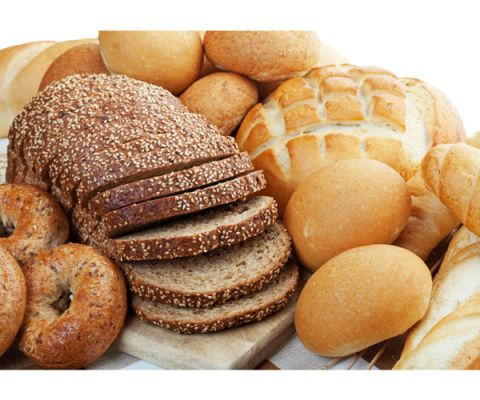 assortment of breads