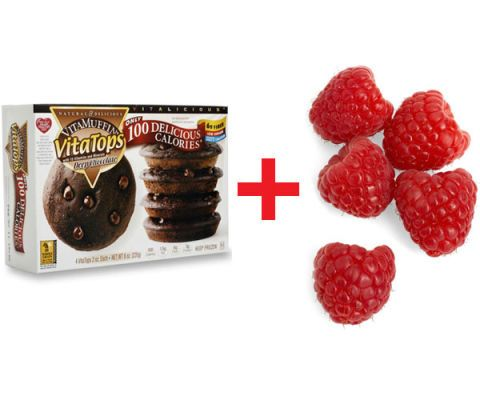 vitatop vitamuffin and raspberries