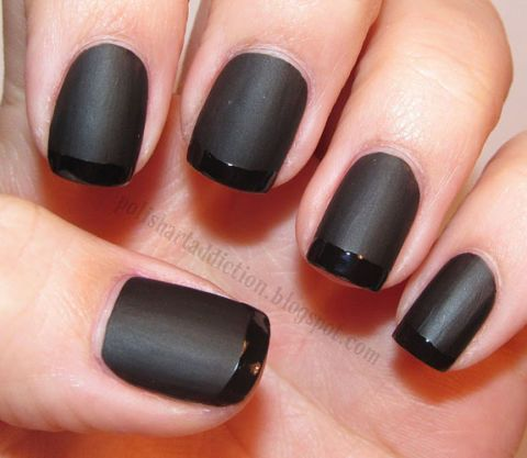 Not Scary Black Manicures
