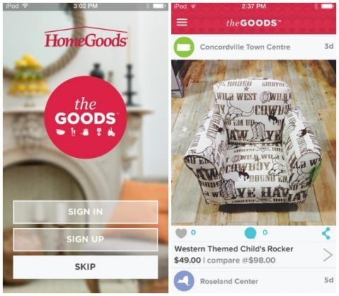 New HomeGoods App - Shopping Tools and Apps