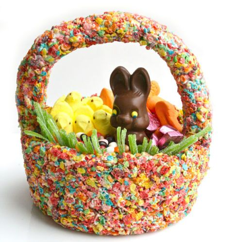Edible easter basket cereal easter basket how to erin phraner negle Image collections