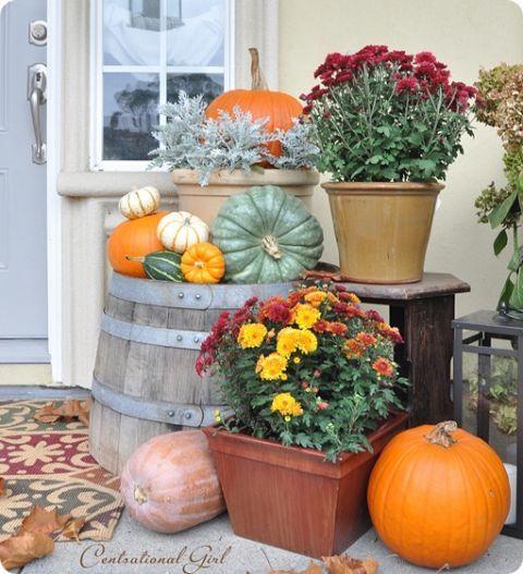 Fall Porch Decorating Idea , DIY Fall Curb Appeal