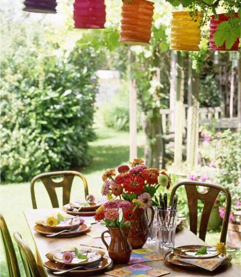Summer Party Backyard Paper Lanterns