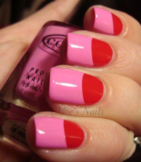 Manicure Month Day 1: Half Moon Mani