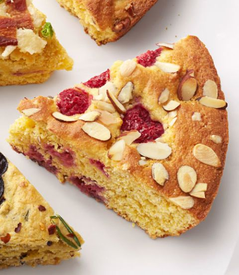 lemon raspberry cornbread