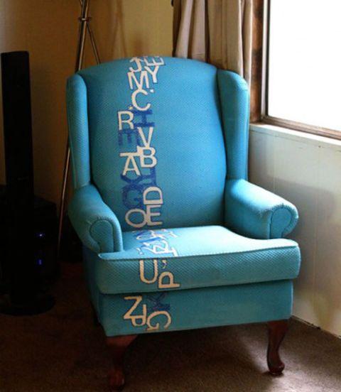 Blue, Room, Floor, Teal, Turquoise, Flooring, Interior design, Aqua, Electric blue, Armrest,