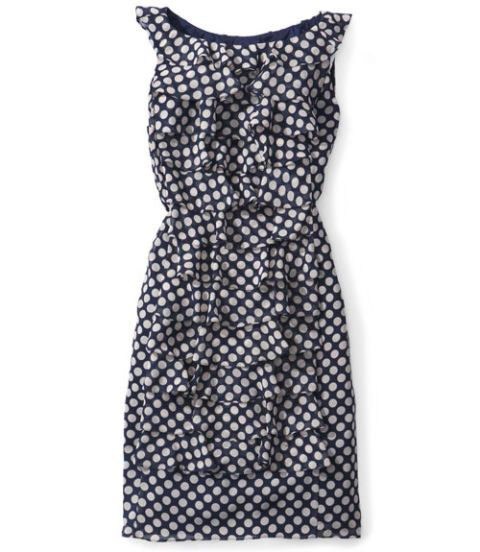 adrianna papell dress polka dots