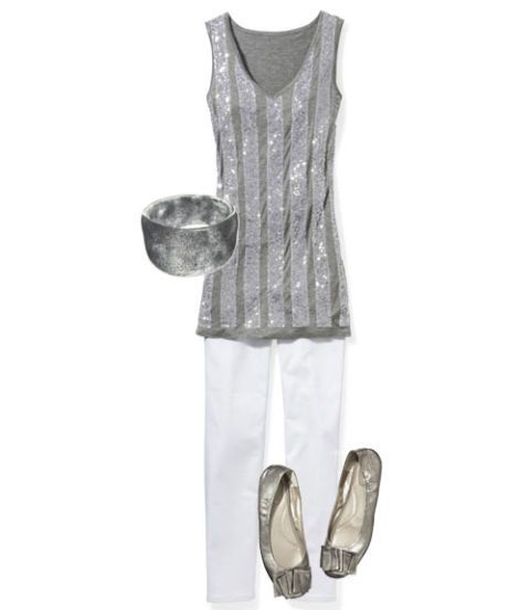 sequin tank top outfit